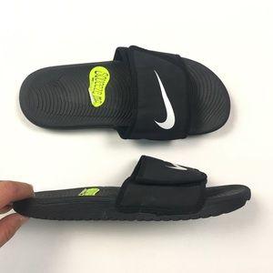 e24a39788 Nike Shoes - NEW NIKE Kawa Adjust Slides Black Kids 819344-001